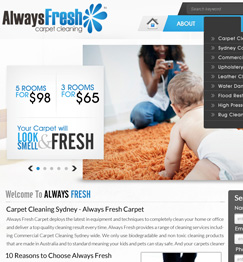 Always Fresh Carpet Website