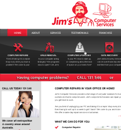 Jim's Computers Website