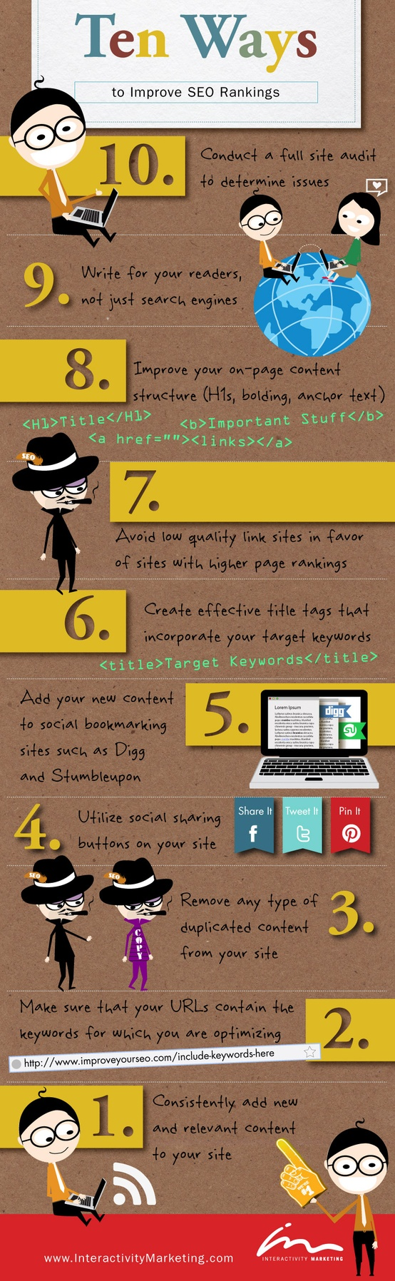 10 Ways to improve your SEO rankings