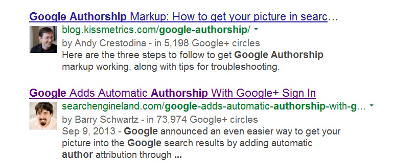 old author markup