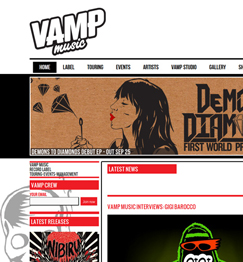 Vamp Music Website